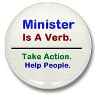 Minister Is A Verb button