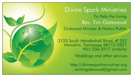 Divine Spark Ministries business card