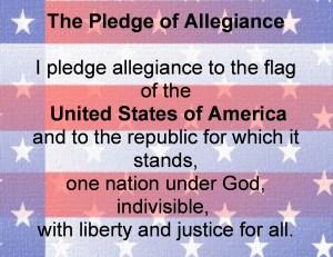 Text of Pledge of Allegiance