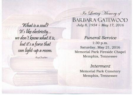 Inside the Memorial card