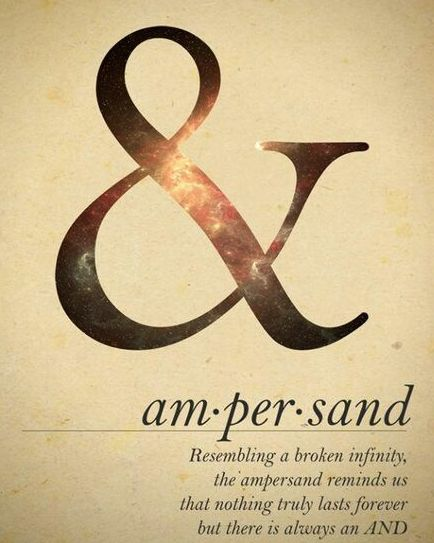Ampersand - representing the broken infinity that is life